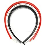 #8: Plastic HairBands set of 12 piece (white,red and black color) + free 12 piece tic tac clip for hair + free 12 piece elastic rubber band for hair.