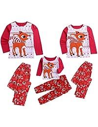 POLP Niño Regalo Navidad Bebe Pijama Rojo Disfraz Ropa Invierno niña Unisex Manga Larga Camiseta Top