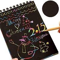 Ideapark-UK Scratch Art for Kids, Rainbow Scratch Art Notes Paper Magic Scratch Art Notes Paper Boards, Scratch Art Notebooks Magic Painting Papers Scratch Boards