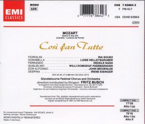 Cosi Fan Tutte Busch [Import anglais]