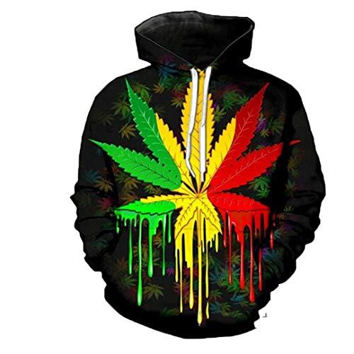 B-Pertand Ankunft Lustige Rauch Unkraut Hoodies Männer Frauen Sweatshirt 3D Print Pullover Sky Blue ()