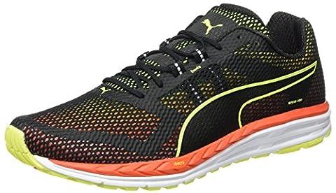 Puma Men's Speed 500 Ignite Running Shoes, Black-Schwarz (Black-Safety Yellow-Red