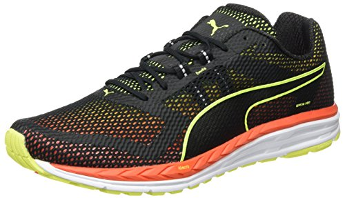 Puma Speed 500 Ignite, Chaussures de Running Compétition Homme Noir - Schwarz (puma black-safety Yellow-Red blast 02)