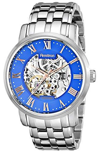 armitron-herren-20-4919blsv-automatic-stainless-steel-silver-tone-bracelet-armbanduhr