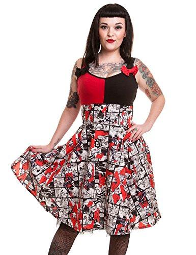 DC Comics Kleid HARLEY QUINN INSANITY DRESS Schwarz XL