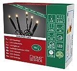 Konstsmide 6353-820 Micro LED Lichterkette/für Innen (IP20) / VDE geprüft / 24V Innentrafo / 50 bernsteinfarbene Dioden/schwarzes Kabel
