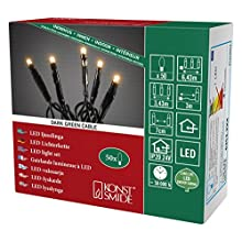 Konstsmide 6353-820 Guirlande Lumineuse à Micro LED, Plastique, 3 W, Or