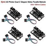 4 Stück 3D-Drucker Dual-Z-Schrittmotor-Parallelmodul Mit 100mm Kabeln Für Doppel-Doppel-Z-Achse...