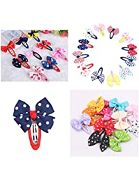XLDreams 14Pcs Imported Multi Color kids Hair Clips/Snap Clips/Mixed Bowtie/Hair Accessories for Girls/kids Imported from HongKong