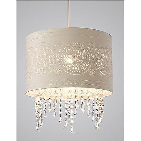 40W Luce pendente contemporaneo moderno paese tessuto di cristallo Soggiorno Camera da letto camera da pranzo bianco caldo110120V