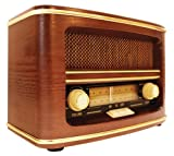Gpo WINCHESTER Radio Retro in Legno, Marrone