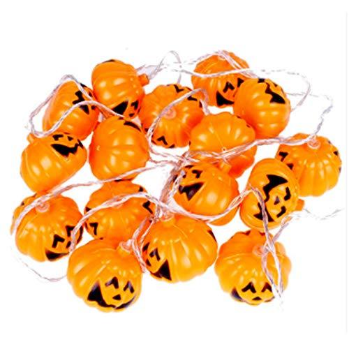 FREF Smart Solar Halloween Kürbis Märchen Licht 16 LED Urlaub Dekoration Lichter Indoor-und Outdoor-Party, 3M Kürbis Licht, Orange