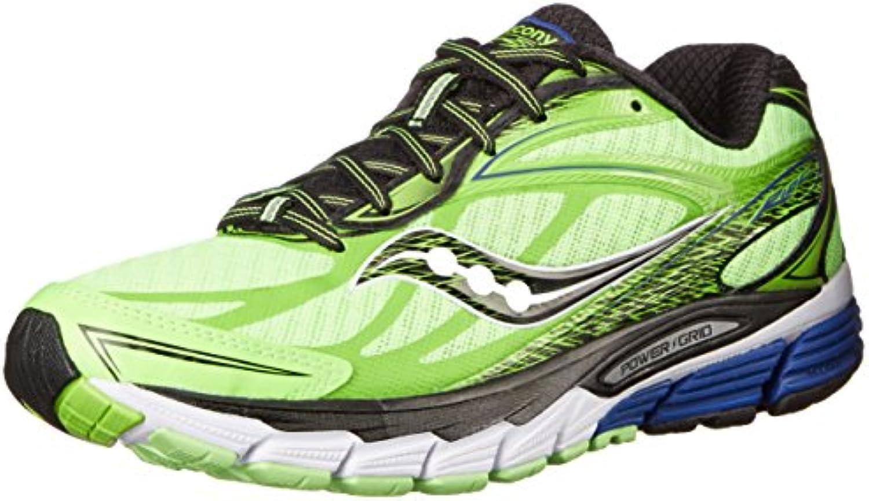 Saucony Ride 8 - Zapatillas de Running Unisex, Color Azul/Amarillo/Naranja