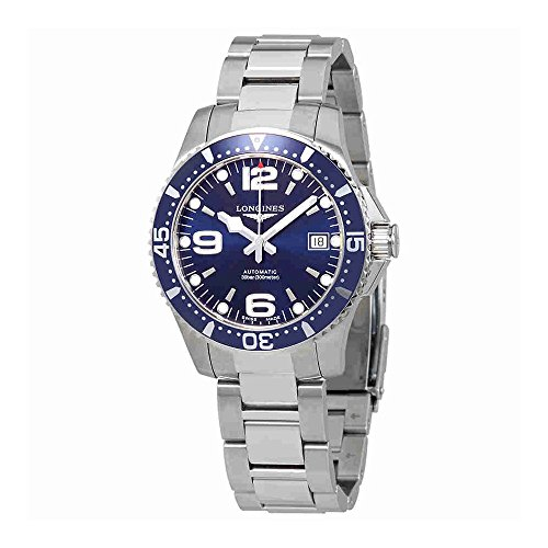 Longines da uomo orologio da polso bracciale in acciaio inox + gomma automatico l37414966