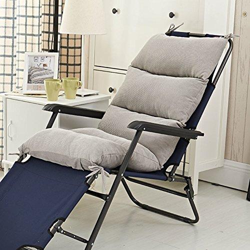 e Lounge Kissen, Futon Überfüllte Sitzkissen Cord Rocking Stuhl Seat dämpfung -Patio-möbel Sitzkissen-grau 50x120cm(20x47inch) ()
