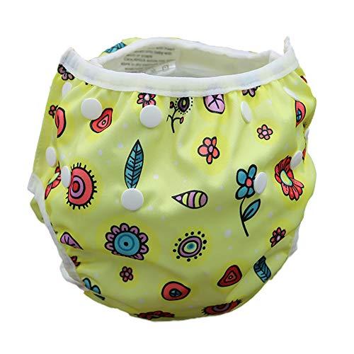 Naisicatar 1pc Baby-Wiederverwendbare Schwimmwindel waschbare und einstellbar für Babys 0-3 Jahre (Gelb) Nizza Geschenk