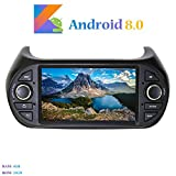 Android 8.0 Autoradio, Hi-azul in-Dash 7 Pouces Car Radio 8-Core RAM 4G ROM 32G Car Audio Stéréo Voiture pour Fiat Fiorino/Fiat Qubo/Peugeot Bipper/Citroen Nemo (Autoradio)