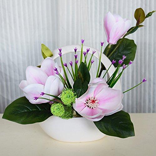 Jhxena Handgefertigte Künstliche Blumen Dekoration Orchidee Kit Florale Kunst, Kleine Weiße (Indoor-gras Fake)