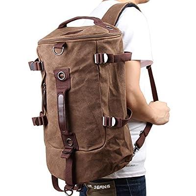 Vktech Portable Canvas Man Boy Backpack Rucksack Travel Outdoor Laptop Hiking Luggage Gym Satchel Bag Duffle - low-cost UK light shop.