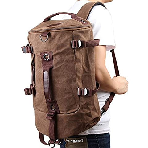 Vktech Portable Canvas Man Boy Backpack Rucksack Travel Outdoor Laptop Hiking Luggage Gym Satchel Bag
