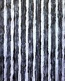 Arisol Flauschvorhang 56 x 185 cm / Vorhang grau-weiß Fliegenschutz Türvorhang