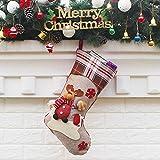 Berrose -Süßigkeit Weihnachtsschmuck Ornament Strumpf Weihnachtsmann Schneemann Socken Dekor-Weihnachtssocke Geschenktüte-Geschenktüte Weihnachtsverzierung Anhänger