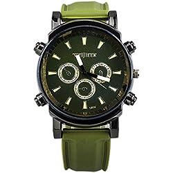 Big Dials Wrist Watch - Weijieer Silicone Band Big Round Face Big Dials Men's Boys Sport Wrist Watch Quartz Watch, Green
