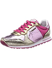 London Verona W Sequins, Sneakers Basses Femme, Rose (Factory Pink), 40 EUPepe Jeans London