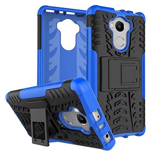 JDDRCASE Handy Zubehör Hüllen, Dual-Layer-Hybrid-Rüstungsfall Abnehmbarer Kickstand 2 In 1 Stoßfestes, Robustes Gehäuse Für Lenovo A7010 (Farbe : Grün)