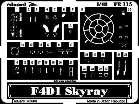 Preisvergleich Produktbild Eduard Photoetch (Zoom) 1:48 - F4D-1 Skyray (Tamiya) - EDPFE115