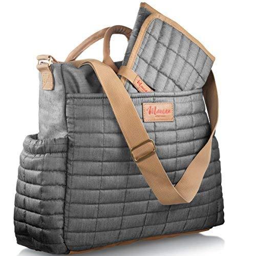 Maman Wickeltasche, Wickeltasche mit passender Wickelunterlage, modische Designer-Tragetasche für Mütter, für Jungen und Mädchen, patentiert.
