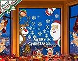 LYworld NoëL Autocollants Fenetre NoëL Stickers Décoration DIY Fenêtres Stickers Santa Claus Porte de Noël Autocollant Amovibles Réutilisable Statique Autocollants DéCalcomanie pour Noël Décorations