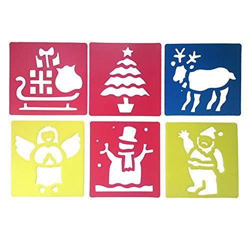 Malschablone, umweltfreundlich, Schablone, Kinderspielzeug, Heimwerker-Zubehör, für Weihnachten, Scrapbook-Werkzeug, für Vorschulkinder, waschbares Zeichenbrett, Tiere, Handwerk (H-07) h-07