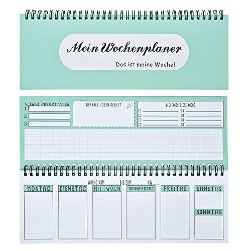 Willingood Tischkalender/Wochenkalender im Quer-Format / 54 Wochen, 1 Woche 2 Seiten/Ohne festes Datum für 365 Tage/Terminplaner 2019