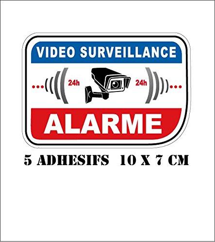 EUSKAL HERRIA EH Autocollant propri/ét/é sous vid/éo Surveillance Alarme 8-15 cm