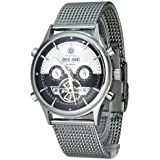 Constantin Durmont Men's Watch Baton Rouge CD-BATO-AT-STM-STST-BKWH