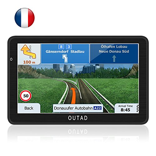OUTAD GPS Navigation Chargeable de Voiture 7'' Tactile...