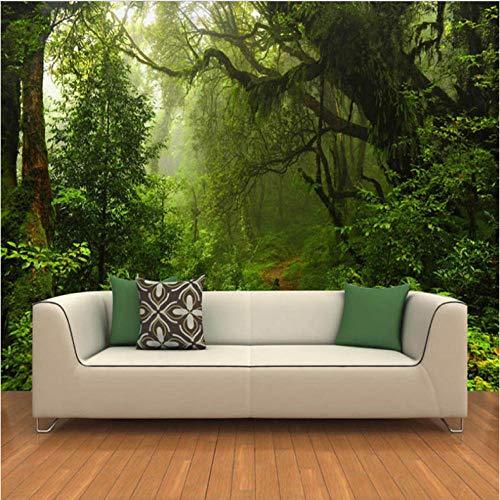 Wffmx Benutzerdefinierte 3D Wandbilder Tapete Urwald Große Wandmalerei Moderne Wohnzimmer Tv Hintergrund Dekor Foto Wandbild Tapete-450X300Cm
