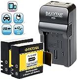 Baxxtar RAZER 600 Ladegerät 5 in 1 + 2x PATONA Akku für -- Rollei -- DAILY icefox TM BOOMYOURS QUMOX SJCam Boblov DBpower SJ4000 SJ5000 SJ5000X SJ6000 SJ7000 SJ8000 SJ9000 Suptig3 usw.