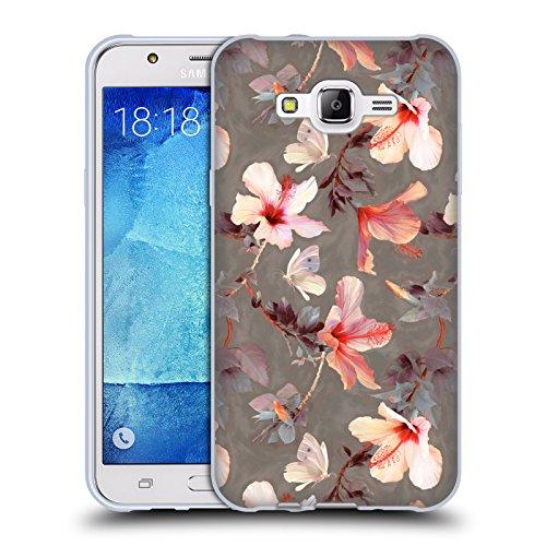 Ufficiale Micklyn Le Feuvre Ibisco Corallo Floreale Cover Morbida In Gel Per Samsung Galaxy J7