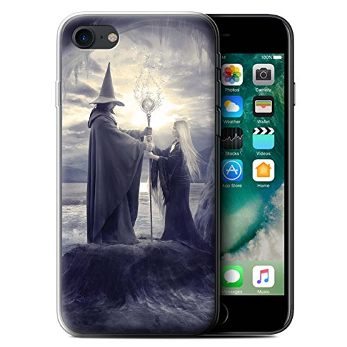 Officiel Elena Dudina Coque / Etui Gel TPU pour Apple iPhone 7 / Maestro/Sorcier Design / Magie Noire Collection Maestro/Sorcier