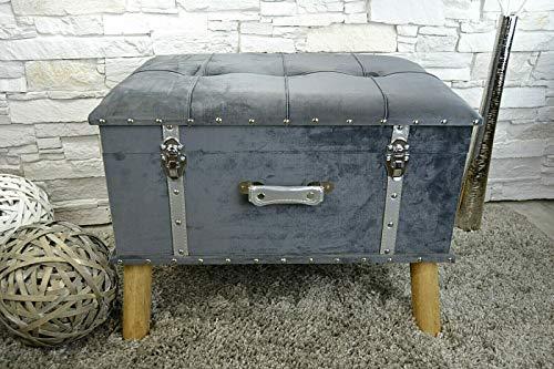 #Livitat® Hocker Polsterhocker Suitcase Pouf Truhe Staufach Truhenbank Sitzbank Ottomane LV2084#