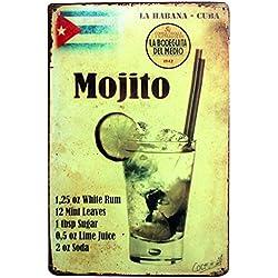itemer Retro estilo Mojito zumo hierro signo pintura para pared oficina en casa Bar Cafetería