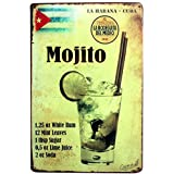 iTemer Retro Style Mojito Juice Iron Sign Painting For Wall Home Office Bar Coffee Shop