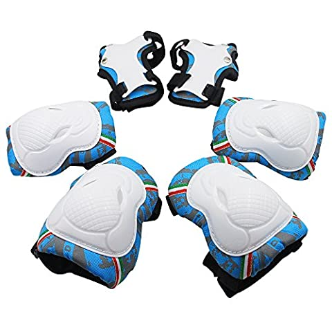 Kids Knee Pads, [2017 New Release] Protective Gear Knee Elbow Pads and Wrist Child's Pad Set for Inline Roller Skating Biking Sports Safe Guard
