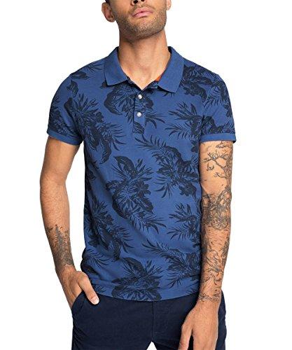 edc-by-Esprit-mit-Blumenprint-Slim-Fit-Polo-Hombre-Azul-BLUE-430-Small-Talla-del-fabricante-Small