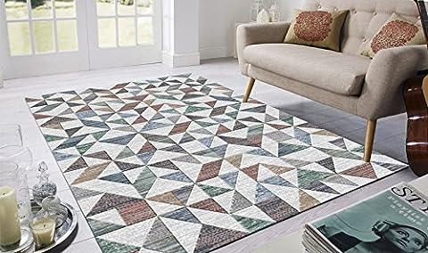 Tapis moderne dessin géométrique Multicolore Laguna 63413–7626Tapis salle cm.200x290 LAGUNA 63413-7626