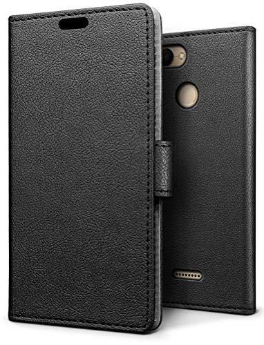SLEO Funda para Xiaomi Redmi 6 Carcasa Libro de Cuero Ultra Delgado Billetera Cartera [Ranuras de Tarjeta,Soporte Plegable,Cierre Magnético] Case Flip Cover