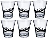 Bormioli Rocco Ceralacca Tumbler Glasses - 385ml (13oz) - Black - x6