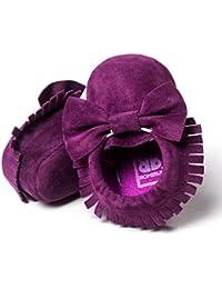 Zapatos de bebé,Tongshi Bebé Cuna de borlas zapatos ocasionales Bowknot zapatos niño zapatillas